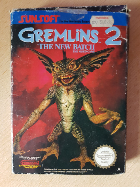 Gremlins 2: The New Batch PAL for Nintendo Entertainment System/NES from Sunsoft (NES-2Z-UKV)