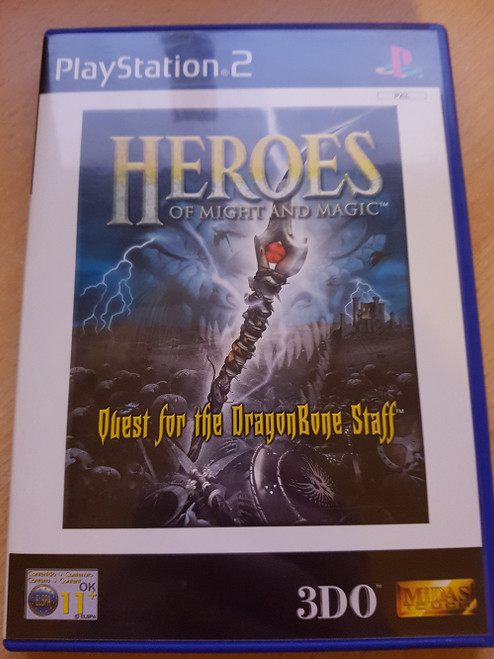 Heroes Of Might And Magic: Quest For The DragonBone Staff PAL for Sony Playstation 2/PS2 from 3DO/Midas Touch (SLES 50186)