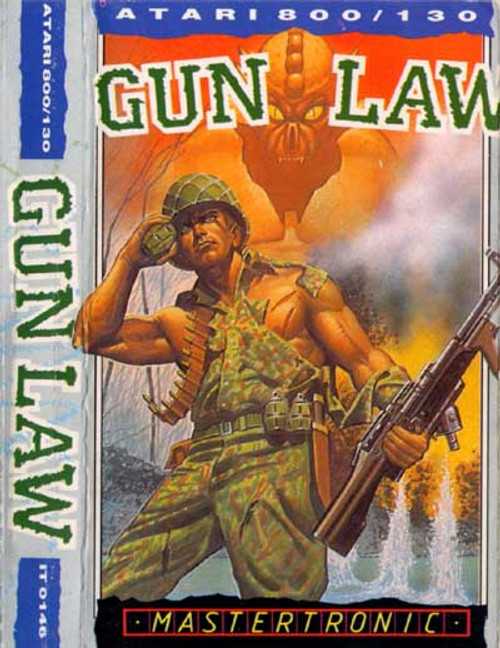 Gun Law for Atari 8-Bit Computers by Mastertronic on Tape