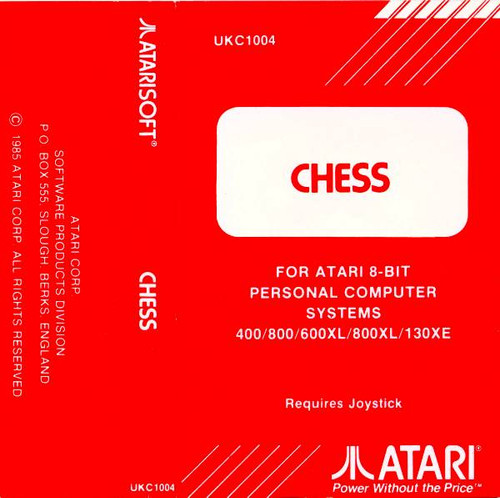 Chess for Atari 8-Bit Computers by AtariSoft on Tape