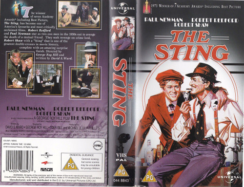 The Sting VHS from Universal (044 8843)