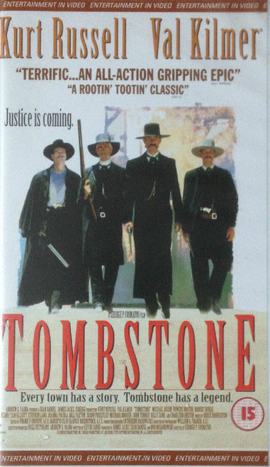 Tombstone VHS from Entertainment In Video (EVS 1141)