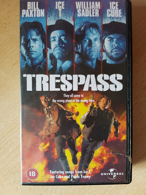 Trespass VHS from 4 Front Video (044 9293)