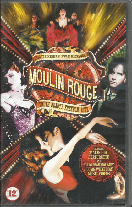 Moulin Rouge VHS from 20th Century Fox Home Entertainment (19945S)