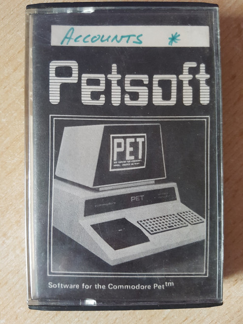 Accounts for Commodore PET from Petsoft