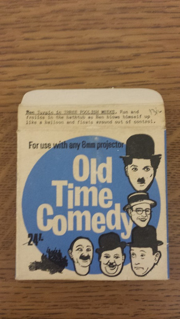 8mm Old Time Comedy Film. Ben Turpin in Three Foolish Weeks