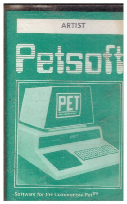 Artist for Commodore PET from Petsoft