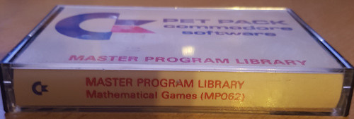 Mathematical Games for Commodore PET from Commodore Software (MP062)