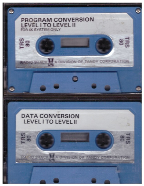 Program Conversion/Data Conversion Level I To Level II for Tandy TRS-80 from Tandy Corporation