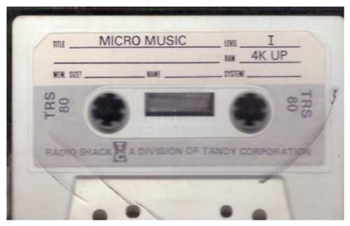 Micro Music for Tandy TRS-80 from Tandy Corporation