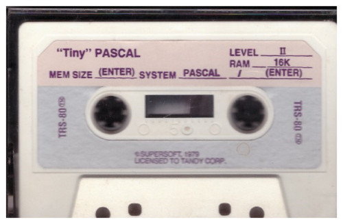 """Tiny"" Pascal for Tandy TRS-80 from Supersoft/Tandy Corp"