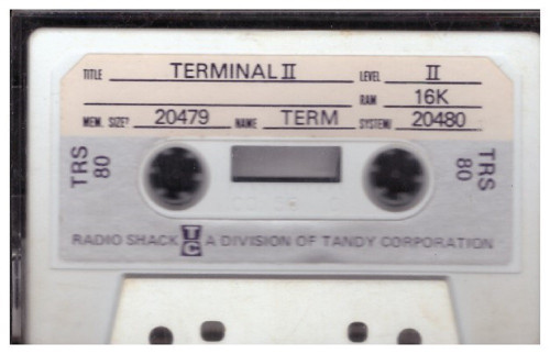 Terminal II for Tandy TRS-80 from Tandy Corporation