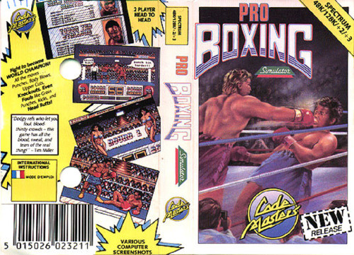 Pro Boxing Simulator for ZX Spectrum from CodeMasters