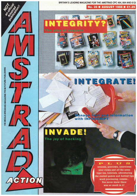 Amstrad Action Issue 35/August 1988 Magazine