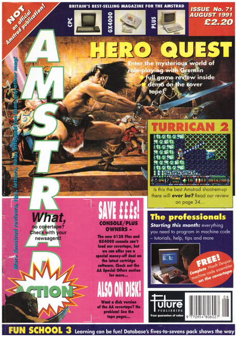 Amstrad Action Issue 71/August 1991 Magazine & Covertape