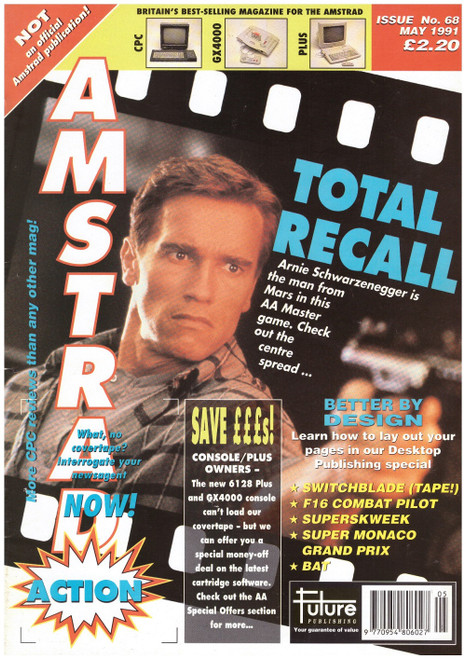 Amstrad Action Issue 68/May 1991 Magazine & Covertape