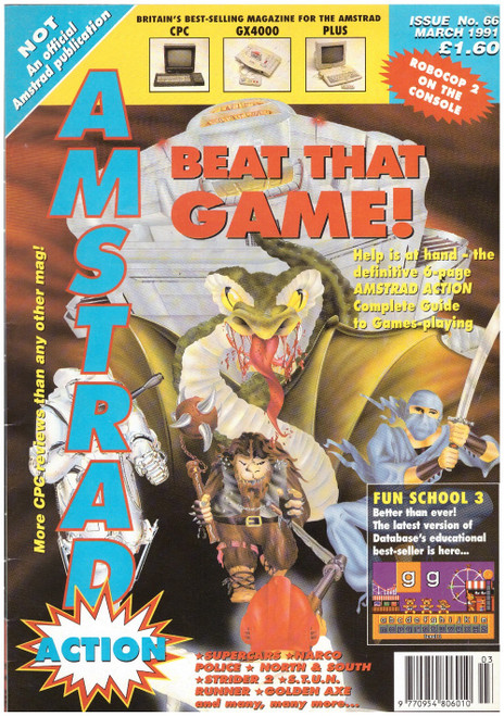 Amstrad Action Issue 66/March 1991 Magazine