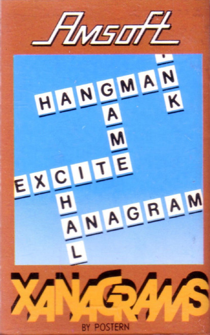 Xanagrams for Amstrad CPC from Amsoft (SOFT 133)
