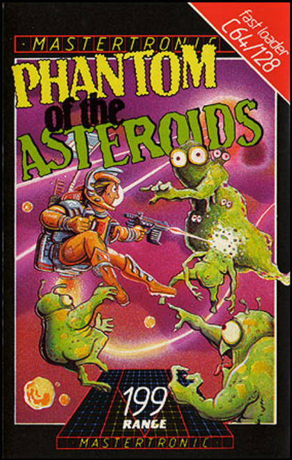 Phantom Of The Asteroids for Commodore 64 by Mastertronic on Tape