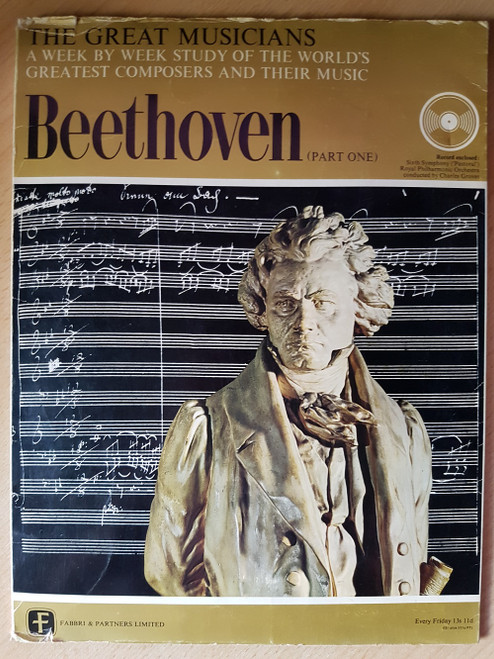 "10"" 33RPM The Great Musicians: Beethoven (Part One) by Fabbri & Partners Limited (TGM-01)"
