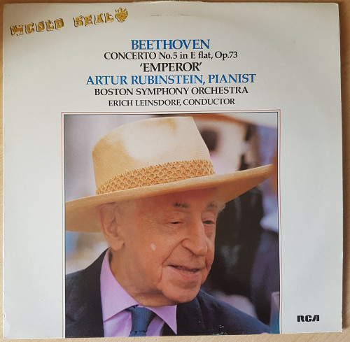 Beethoven: Concerto No.5 In E Flat, Op.73 'Emperor' by Artur Rubinstein/Boston Symphony Orchestra/Erich Leinsdorf from RCA (GL 14220)