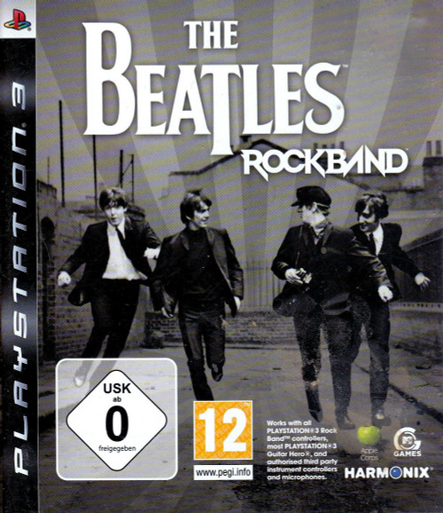 The Beatles Rockband PAL for Sony Playstation 3/PS3 from Harmonix/MTV Games (BLES 00532)