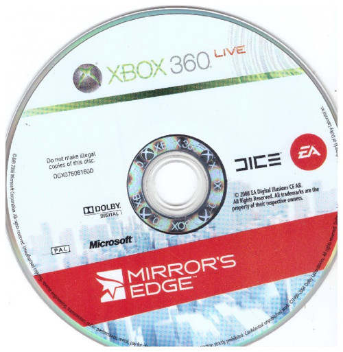 Mirror's Edge Disc Only PAL for Microsoft XBOX 360 from EA