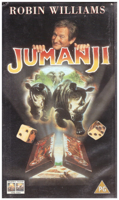 Jumanji VHS from Columbia Tristar Home Video (CVR 34029)