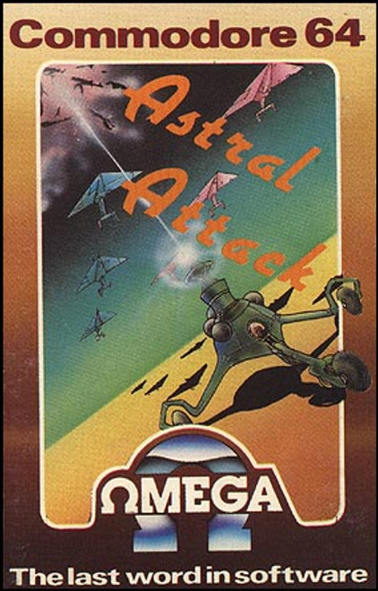 Astral Attack for Commodore 64 by Omega on Tape