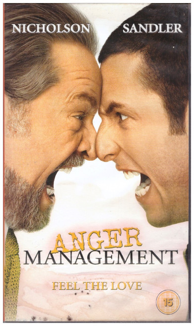 Anger Management VHS from Columbia Tristar Home Entertainment (CVR 34069)