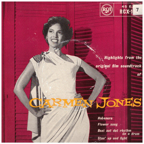 "7"" 45RPM Carmen Jones EP from RCA (RCX-134)"