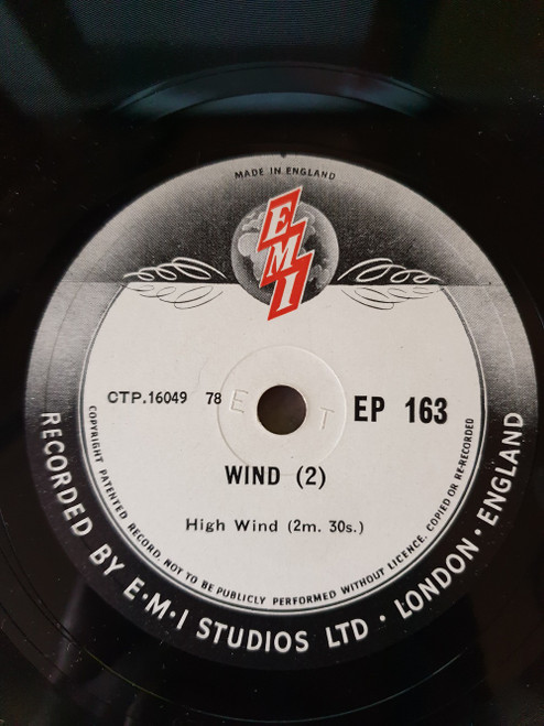 "10"" 78RPM Wind (2) by EMI (EP 163)"
