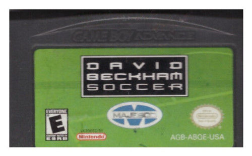 David Beckham Soccer Cartridge Only for Nintendo Gameboy Advance/GBA from Majesco (AGB-A8QE-USA)