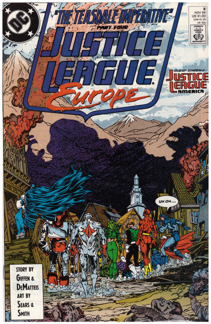 Justice League Europe #8 Nov 89 from DC Comics