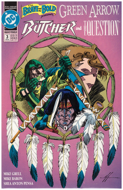 The Brave And The Bold Presents: Green Arrow, The Butcher And The Question #3 Feb 92 from DC Comics