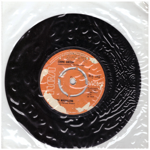 """7"""" 45RPM Eva Magdalena/A Thing Called Love by Lorne Gibson from RCA (RCA 1917)"""