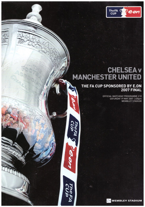 Chelsea Vs Manchester United 2007 FA Cup Final Official Matchday Programme