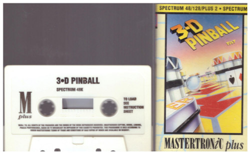 3-D Pinball for ZX Spectrum from Mastertronic Plus