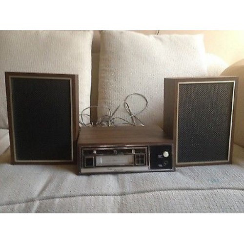 Boman Astrosonix J-2003 8-Track Player With Speakers