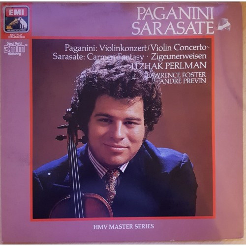 Paganini: Violinkonzert/Sarasate: Carmen Fantasy - Zigeunerweisen by Itzhak Perlman/Lawrence Foster/Andre Previn from His Master's Voice (29 1285 1)