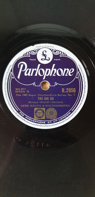 "10"" 78RPM The Big Do/Drum Boogie by Gene Krupa & His Orchestra from Parlophone (R.2956)"