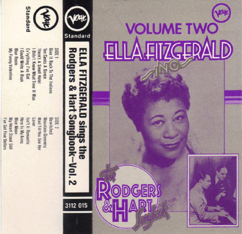 Ella Fitzgerald Sings The Rodgers & Hart Songbook-Vol. 2 from Verve Records on Cassette (3112 015)