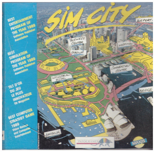 Sim City for Amstrad CPC from Infogrames on Disk