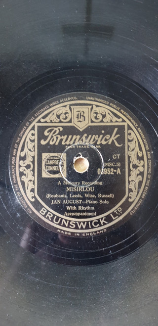 "10"" 78RPM Misirlou/Zigeuner by Jan August from Brunswick (03952)"