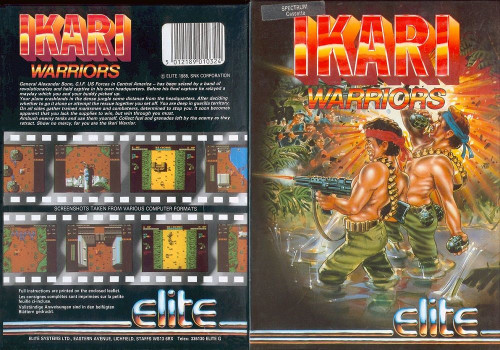 Ikari Warriors for ZX Spectrum from Elite. Works on 48k and upwards. 1988 conversion of the arcade game that got a rating of 76% in Crash magazine. Complete in big box. In excellent condition. Tested and working.