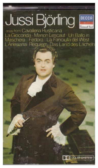 Operatic Arias by Jussi Bjorling on Cassette (KGRC 4)