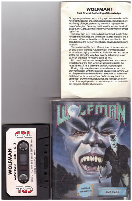 Wolfman for Amstrad CPC from CRL