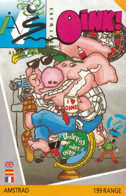 Oink! for Amstrad CPC by Alternative Software on Tape