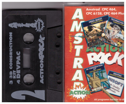 Amstrad Action 5 Aug 91 Covertape for Amstrad CPC
