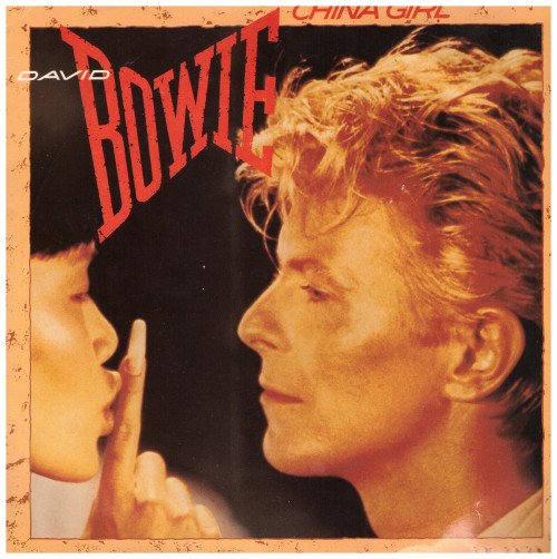 "7"" 45RPM China Girl/Shake It by David Bowie from EMI America (EA 157)"